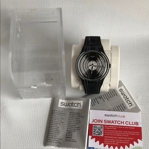 Swatch Watch Black rubber New